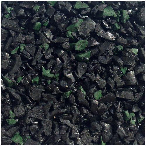 Black green fleck wet pour