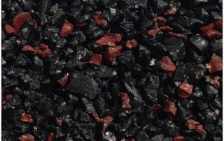 Black red fleck wet pour