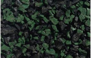 Green black fleck wet pour