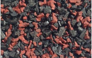 Red black fleck wet pour