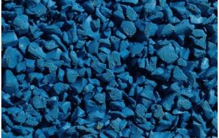 Sky blue wet pour