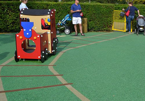 wet pour surfacing in childrens play area