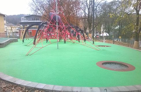 Playground opening in Floda
