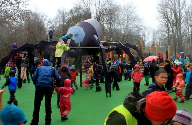 Children playing in playground - Safety surfacing