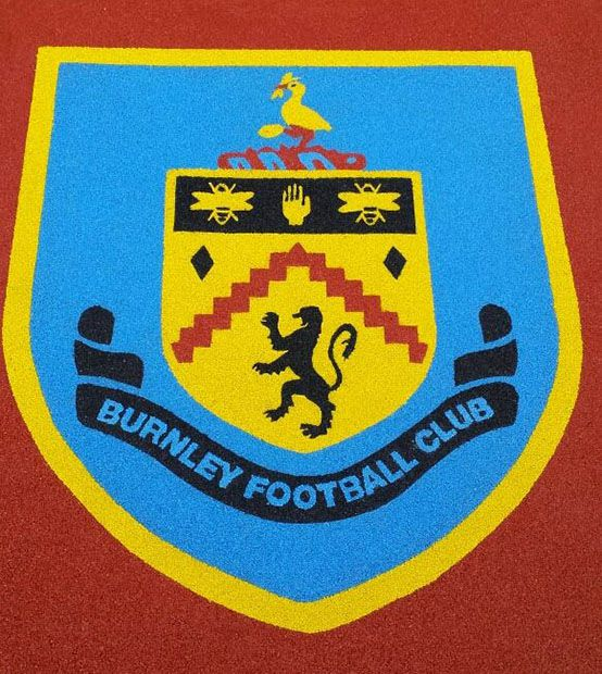 Burnley Football Club Logo in Wet Pour - RTC Safety Surfaces