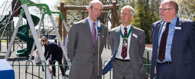HRH Duke of Kent Opens Play Area