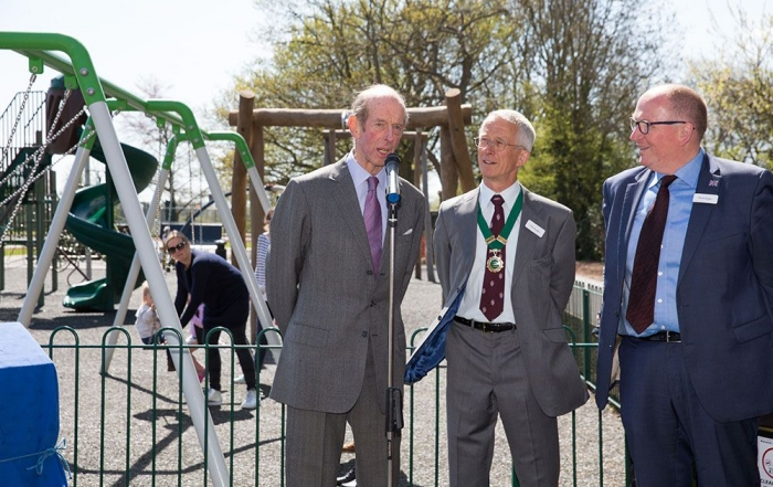 HRH Duke of Kent Opens Play Area