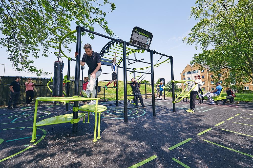 Outdoor gym at Osterley Sports Centre