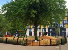 Wormholt park's new playground