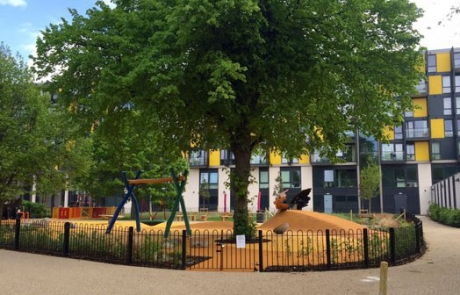 Wormholt park's new playground