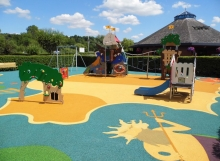 wet pour safety surfacing playgrounds RTC