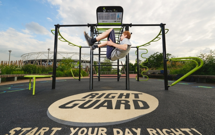 The Great Outdoor Gym Company, Queen Elizabeth Olympic Park installation. Photo by Phil Bourne