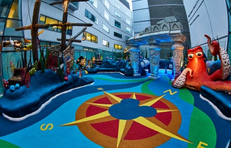 Playground surfacing Disney Reef Great Ormond Street Hospital