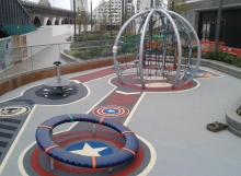 Marvel Avengers Theme Play Area At Westfield Shopping Centre - RTC Sfety Surfaces